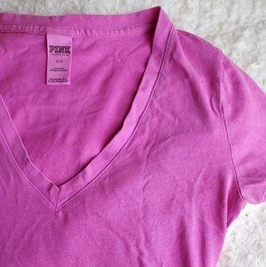 PINK V-neck tshirt
